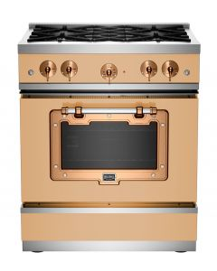 "30"" Classic Stove Classic Collection Beige 1001 Brushed Copper"