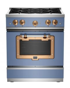 30″ Classic Stove Classic Collection French Blue Brushed Copper
