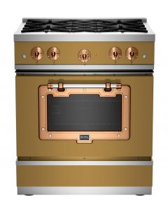 """30"""" Classic Stove Classic Collection Green Brown 8000 Brushed Copper"""