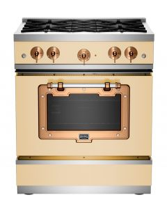 """30"""" Classic Stove Classic Collection Ivory 1014 Brushed Copper"""