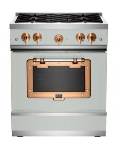 """30"""" Classic Stove Classic Collection Premium Light Grey 7035-Brushed Copper"""