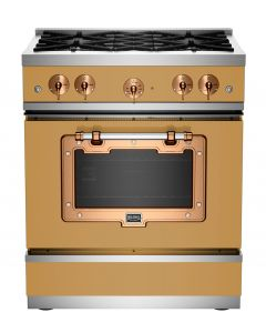"""30"""" Classic Stove Classic Collection Ochre Yellow 1024 Brushed Copper"""