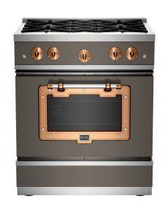 30″ Classic Stove Classic Collection Premium Quartz Grey 7039 Brushed Copper