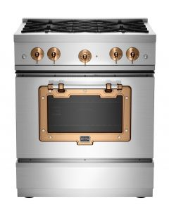 30″ Classic Stove Classic Collection Stainless Steel Brushed Copper