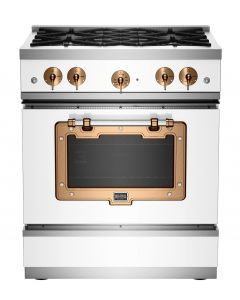 30″ Classic Stove Classic Collection White Brushed Copper