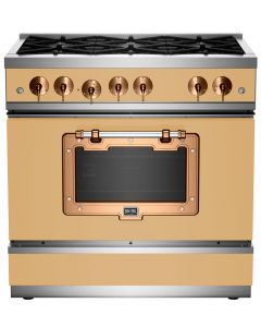 "36"" Classic Stove Classic Collection Beige 1001 Brushed Copper"