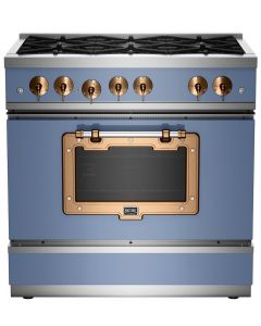 36″ Classic Stove Classic Collection French Blue Brushed Copper