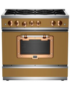 """36"""" Classic Stove Classic Collection Green Brown 8000 Brushed Copper"""