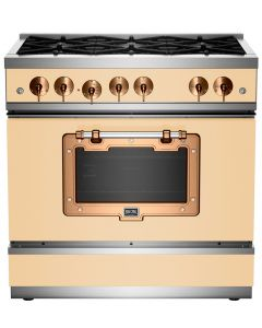 """36"""" Classic Stove Classic Collection Ivory 1014 Brushed Copper"""