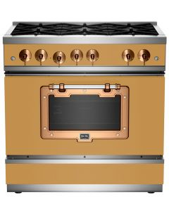 """36"""" Classic Stove Classic Collection Ochre Yellow 1024 Brushed Copper"""
