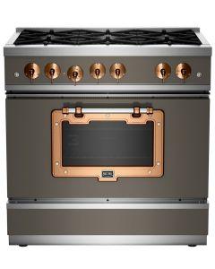 36″ Classic Stove Classic Collection Premium Quartz Grey 7039 Brushed Copper