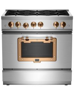 36″ Classic Stove Classic Collection Stainless Steel Brushed Copper