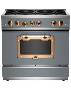 """36"""" Classic Stove Classic Collection Premium Telegray 7046-Brushed Copper"""