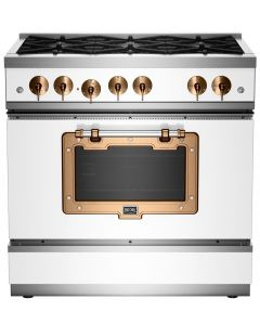 36″ Classic Stove Classic Collection White Brushed Copper