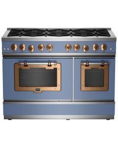 "48"" Classic Stove Classic Collection French Blue Brushed Copper"