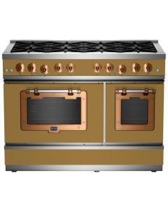 """48"""" Classic Stove Classic Collection Green Brown 8000 Brushed Copper"""