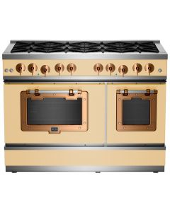 """48"""" Classic Stove Classic Collection Ivory 1014 Brushed Copper"""