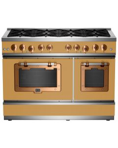 """48"""" Classic Stove Classic Collection Ochre Yellow 1024 Brushed Copper"""