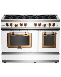 "48"" Classic Stove Classic Collection White Brushed Copper"