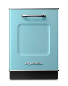 Retro Dishwasher Panel Retro Collection Beach Blue