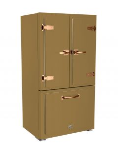 Classic Fridge Classic Collection Green Brown 8000 Brushed Copper