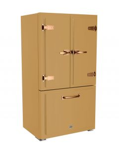 Classic Fridge Classic Collection Ochre Yellow 1024 Brushed Copper