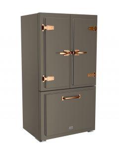 Classic Fridge Classic Collection Premium Quartz Grey Brushed Copper