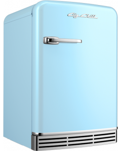 Mini Fridge Retro Collection Beach Blue