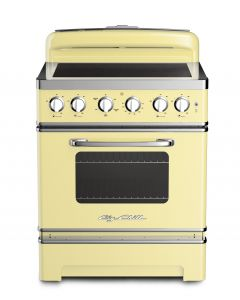 30″ Retro Electric Induction Range Retro Collection Buttercup Yellow
