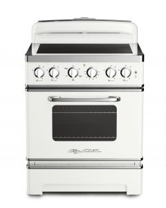 30″ Retro Electric Induction Range Retro Collection Classic White