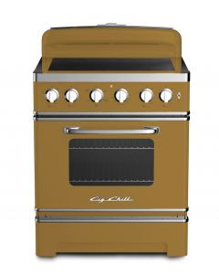 """Retro 30"""" Induction Range Retro Collection Green Brown 8000"""