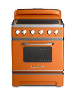 30″ Retro Electric Induction Range Retro Collection Premium Orange