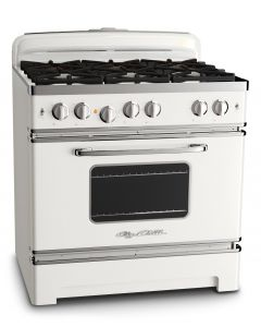 36″ Retro Stove Retro Collection Classic White
