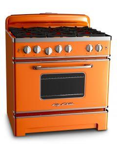 36″ Retro Stove Retro Collection Premium Orange