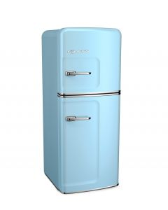 Slim Fridge Retro Collection Beach Blue