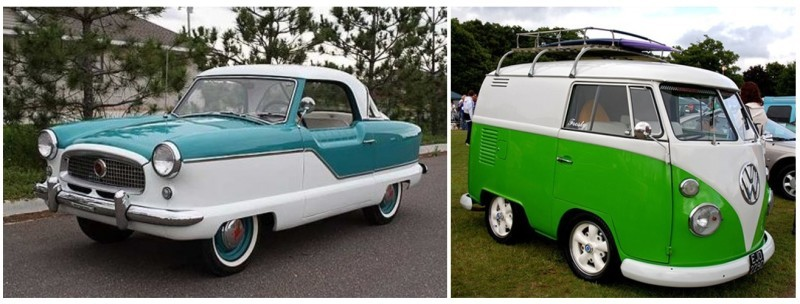 Vintage cars used as inspiration