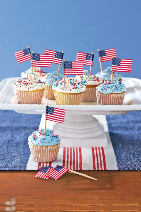 Patriotic Cupcakes from Country Living