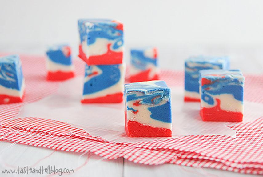 Patriotic Fudge from Taste and Tell blog
