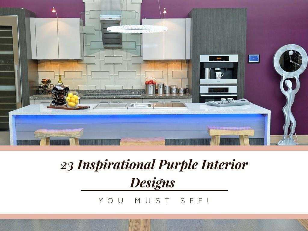 23 Inspirational Purple Interior Designs