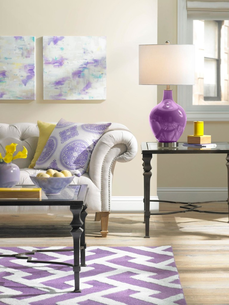 Contemporary Purple and Blue Apartment (1)