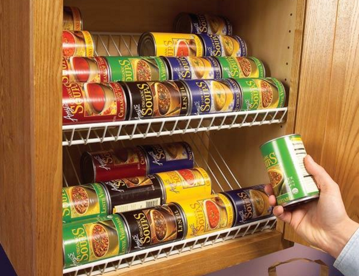 Use Wire Closet Racks to Store Canned Food