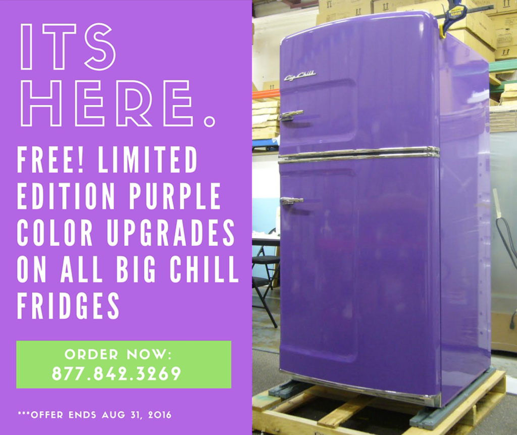 Limited Edition Purple Big Chill Now Available: The Most