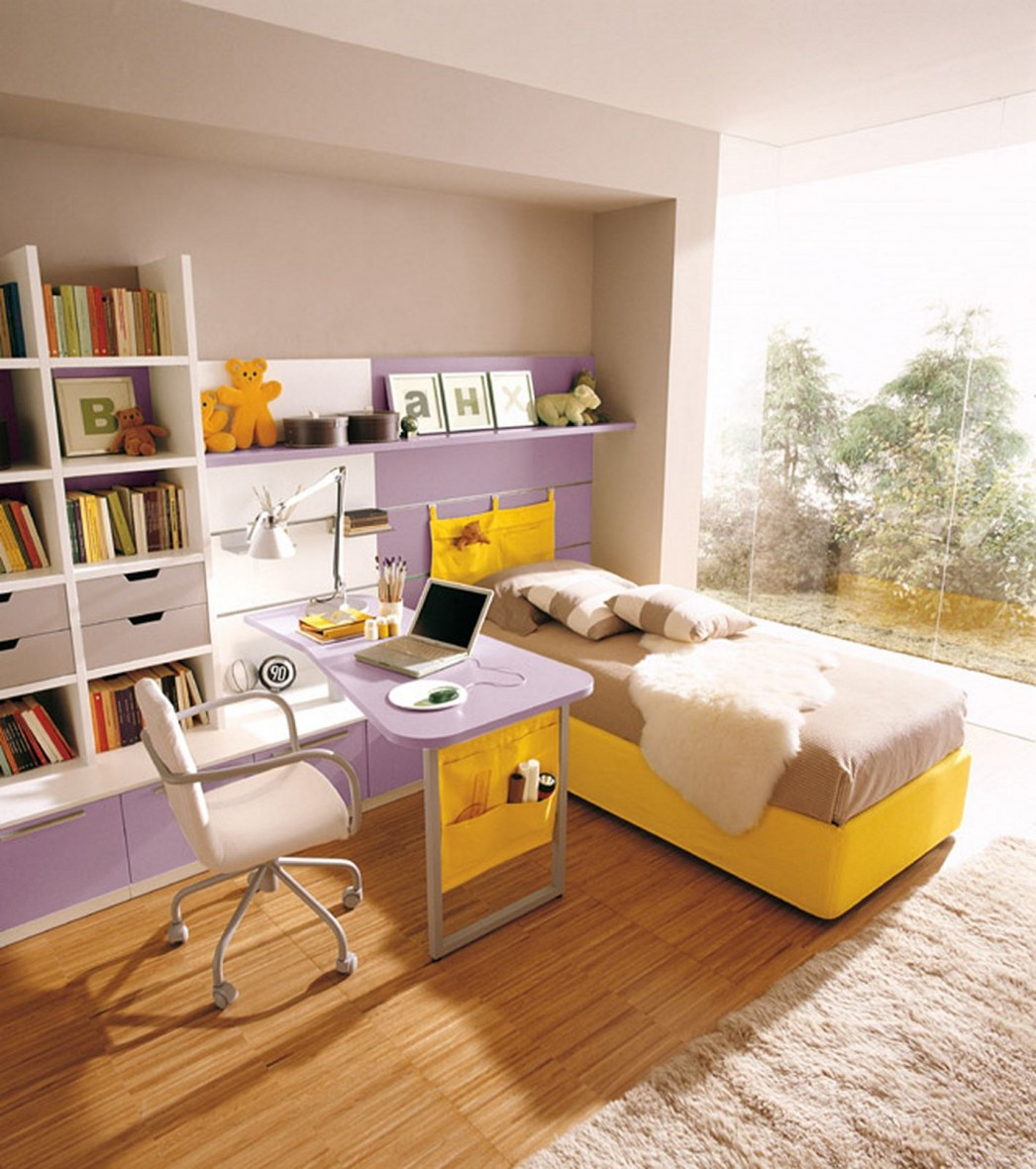 Bedroom Interior Room Design Brown Small Kid With Storage Excerpt Ideas: 23 Inspirational Purple Interior Designs You Must See