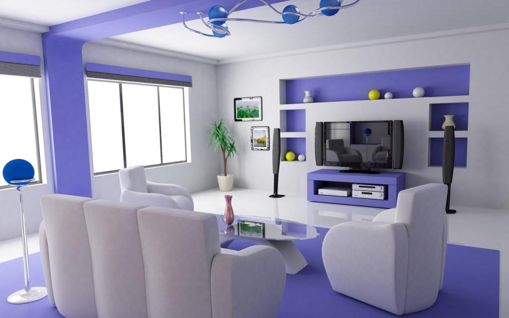 futuristic-purple-tv-room