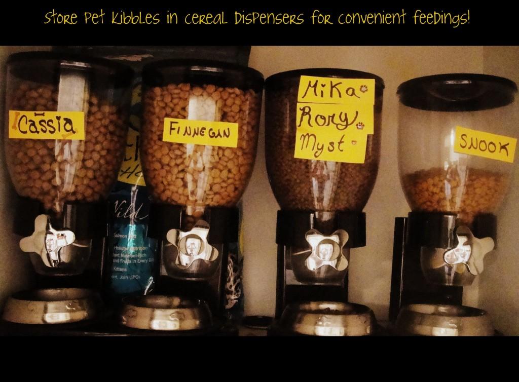 pet food cereal dispensers