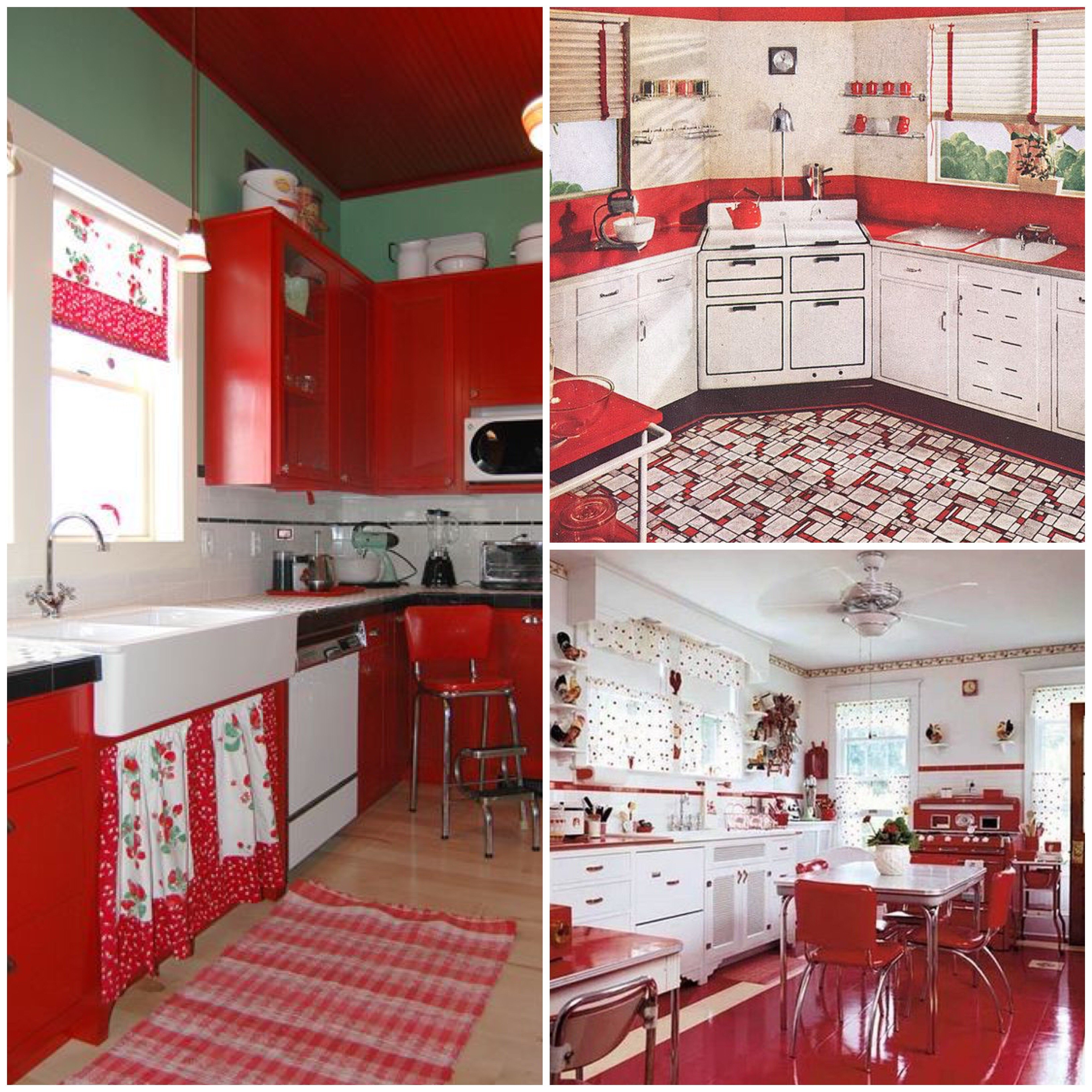 Pictures Of Kitchens With Red Decor