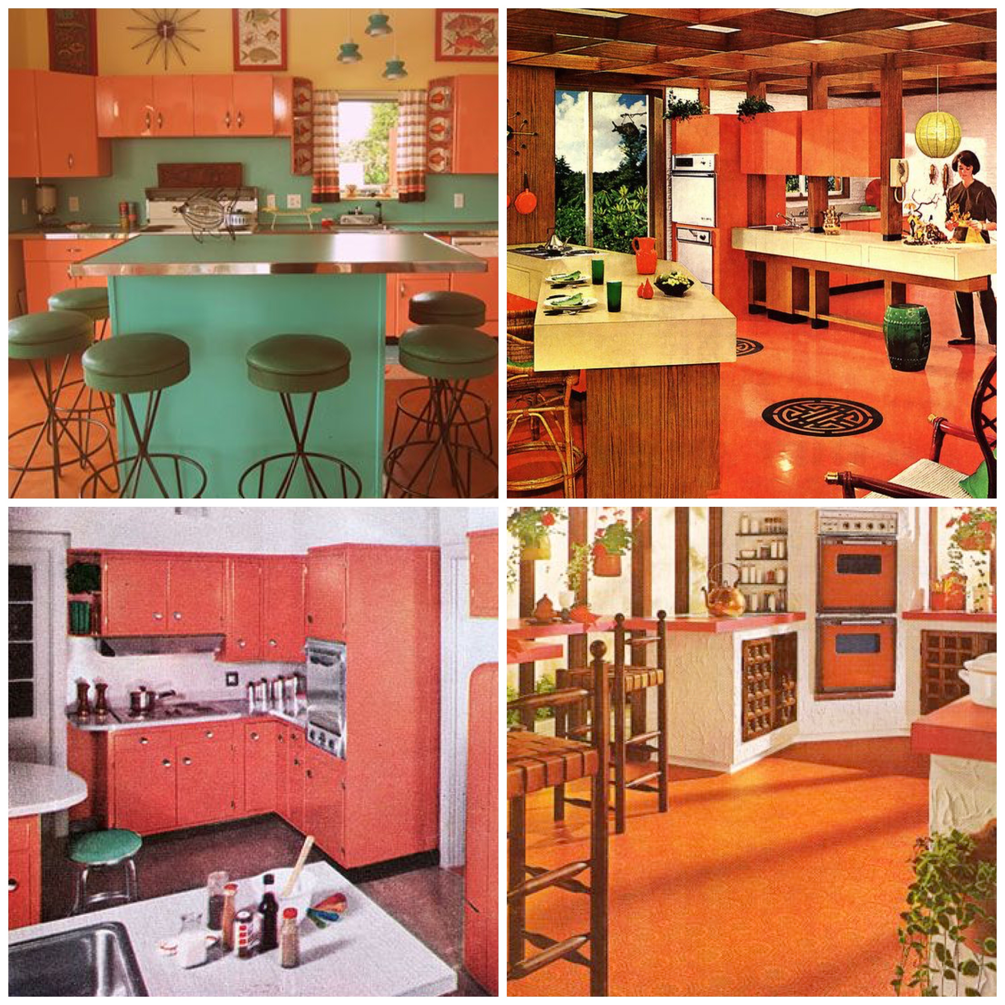 Orange Vintage Kitchen
