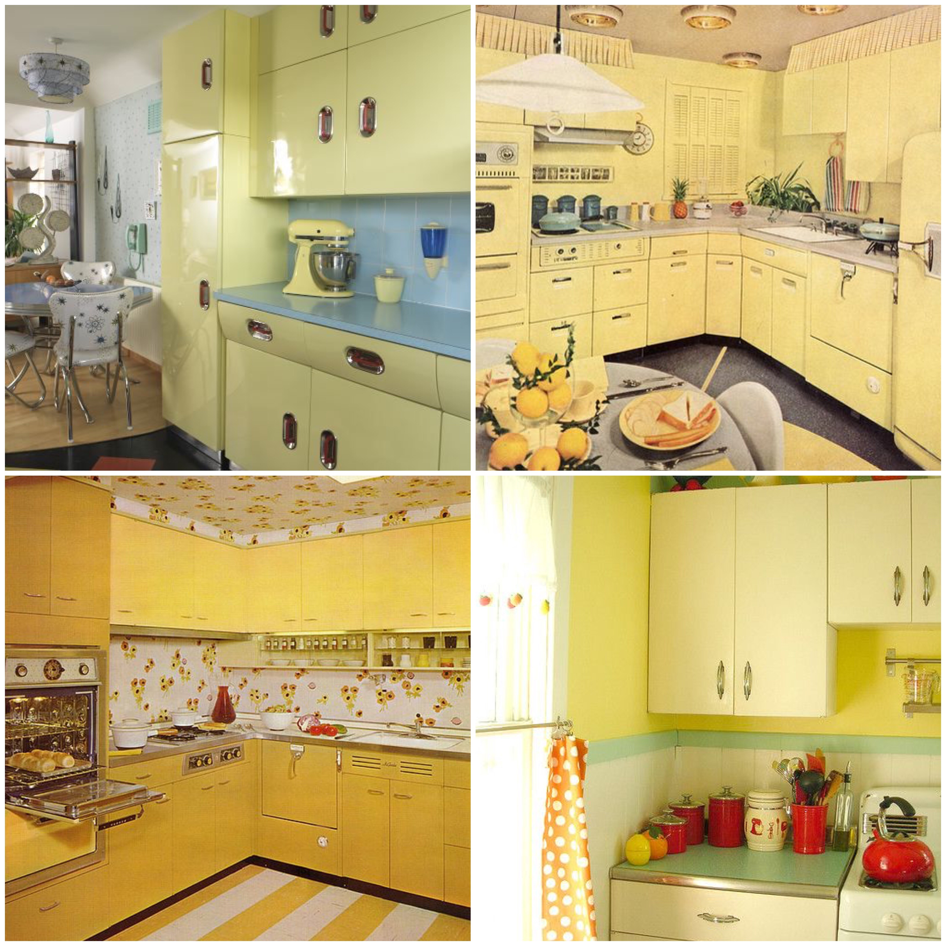Yellow Vintage Kitchen
