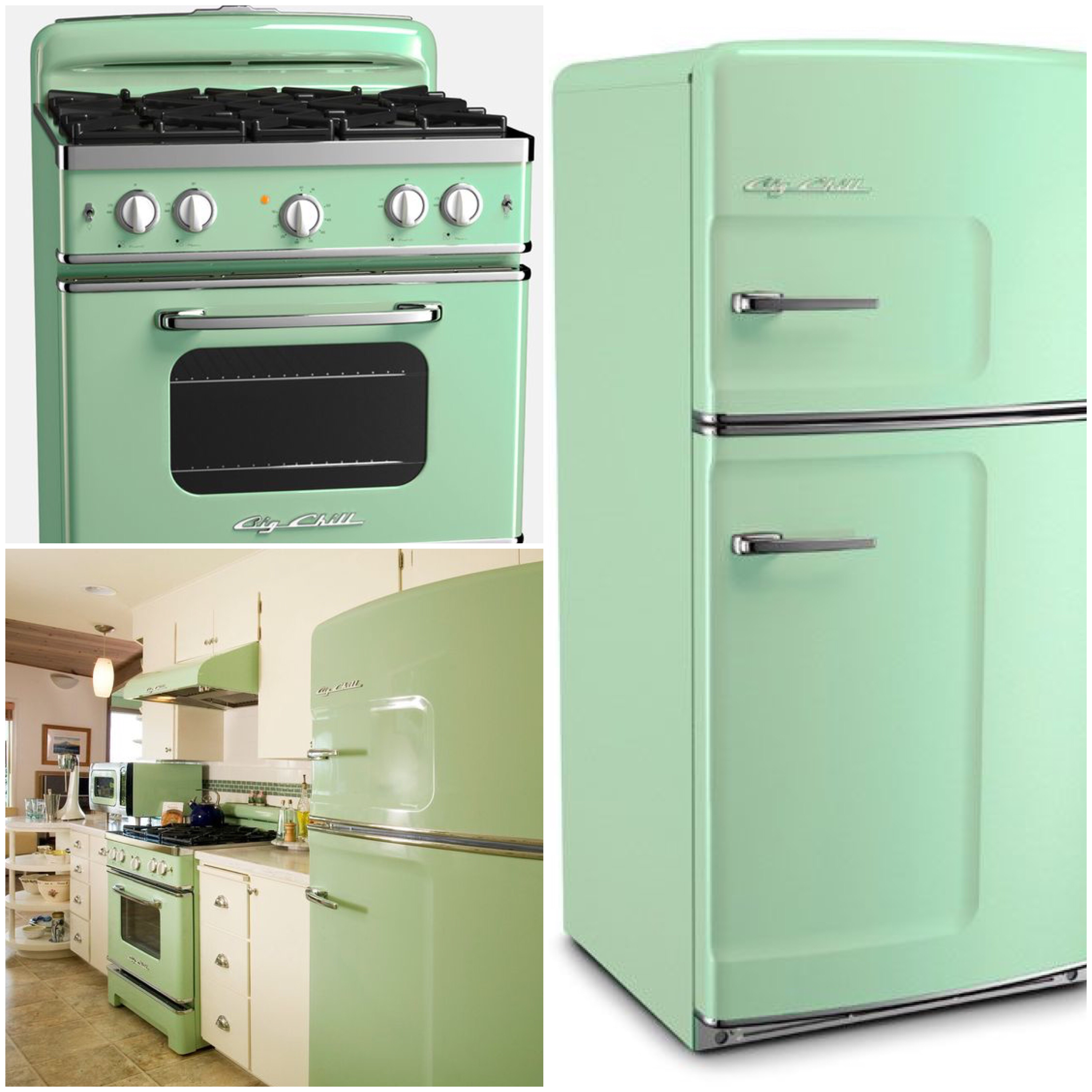 Mint Green Kitchen Appliances: Taste The Rainbow: Vintage Kitchens Of Every Shade
