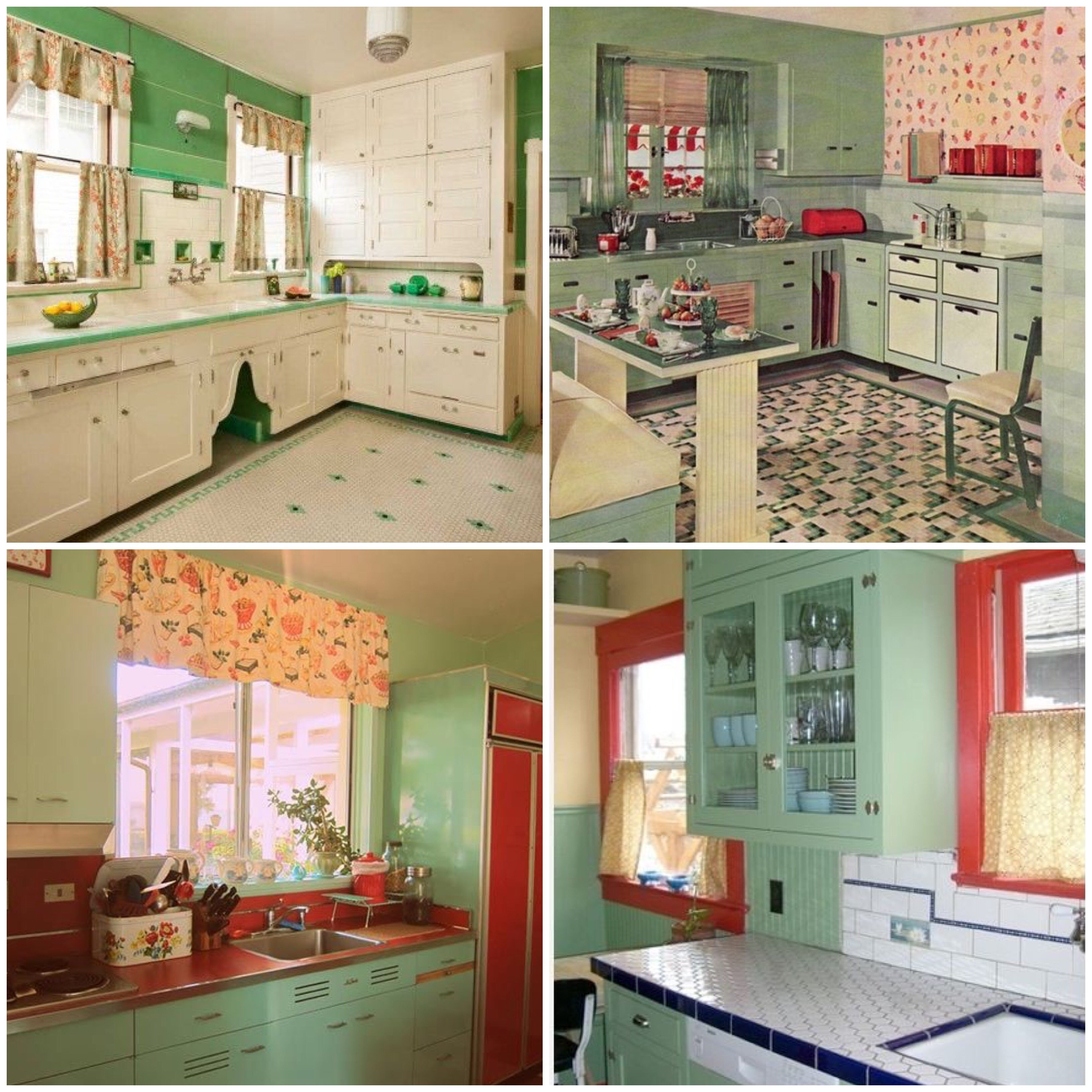 Green Vintage Kitchen